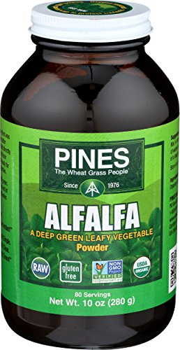 PINES Organic Alfalfa Powder, 10 Ounce (Alfalfa Powder Juice)