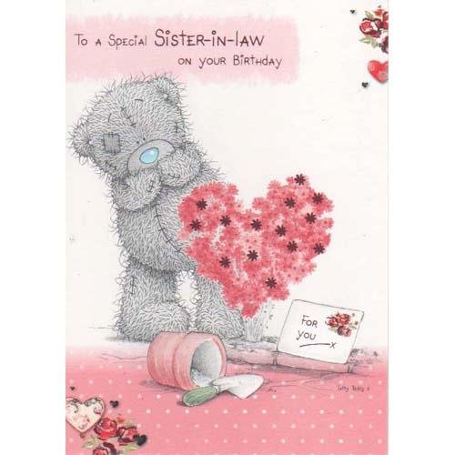Sister In Law Birthday Me To You Bear Card Amazoncouk Toys Games