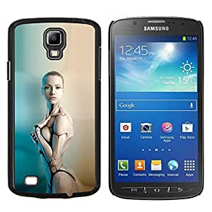 LECELL--Funda protectora / Cubierta / Piel For Samsung Galaxy S4 Active i9295 -- Sexy Robot Humanoide Mujer --