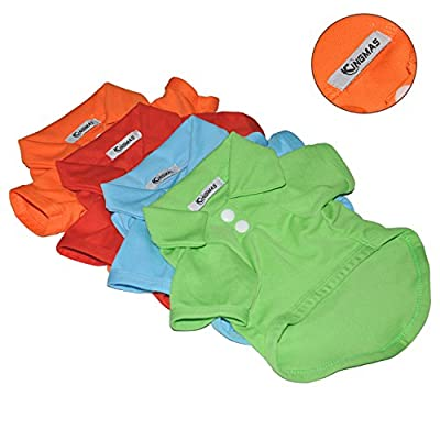 KingMas® 4Pcs Pet Dog Puppy Polo T-Shirt Clothes Outfit Apparel Coats Tops