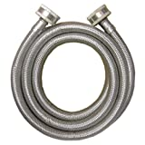 LASCO 16-1808 Braided Stainless Steel Machine Hose with 3/4-Inch Female, 6-Foot, Straight Ends