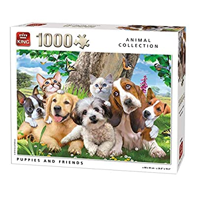 King 55846 Puppies And Friends Puzzle 1000 Pezzi A Colori 68 X 49 Cm