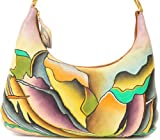 ZIMBELMANN LISA Genuine Nappa Leather Hand-painted Hobo Shoulder Bag