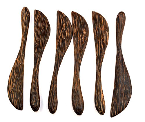 Wooden Bread Butter Cheese Jam Spreader Knife Knives Set of 6, Palm - Shop Gift Crossroads