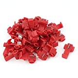 Aexit 40Pcs Red Snap Lock 10-12AWG Gauge Cable Wire Quick Splice Connectors