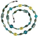 Beaded Glass Eyeglass Chain Holder Fashion Lanyard Necklace, Jade Green