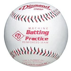 Diamond Machine Batting Practice Baseball with Flat Seams, (Pack of 12)
