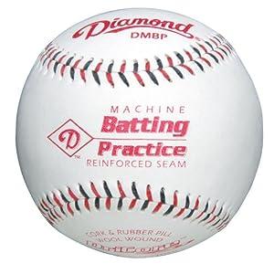 Diamond Machine Batting Practice Baseball with Flat Seams, (Pack of 12)