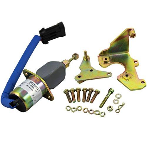 (Generic New Fuel Shut Off Solenoid for 94-98 5.9L Dodge Diesel Cummins With Bracket Kits 3931570)