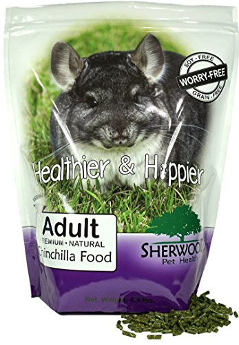 Sherwood Pet Health Chinchilla Food, Adult Timothy Blend (Grain & Soy-Free) (4.5 pounds)