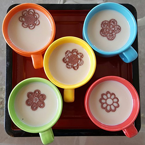 25/Set Various Design Edible Small Mini Dark Chocolate Lace Flower Doily Topper For Cupcake, Hot Cocoa, Coffee Latte - Deco Cocoa