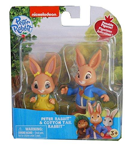 Nickelodeon Peter Rabbit Television Show Poseable Figures, Peter Rabbit & Cotton Tail, 3 (Peter Cottons)