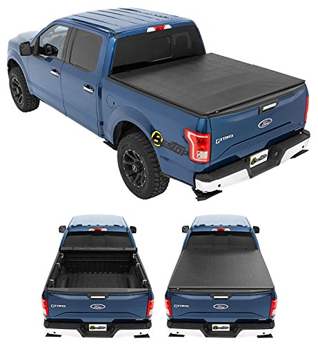 Bestop 19110-01 EZ-Roll Tonneau Cover for 1997-2003 Ford F-150 & 2004 F-150 Heritage & 1997-2000 Ford F-250 Light-duty, 6.5' bed ()