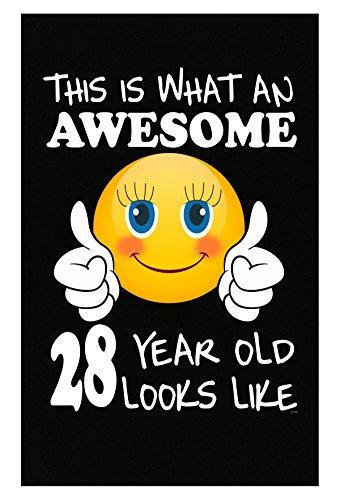 Emoji Birthday 28th Birthday Presents Woman 28 Year Old Gift - Poster