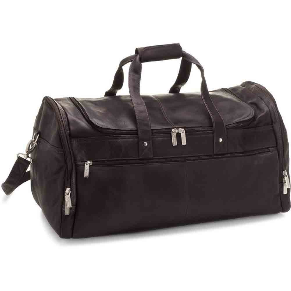 Black Le Donne Leather Voyager Duffel