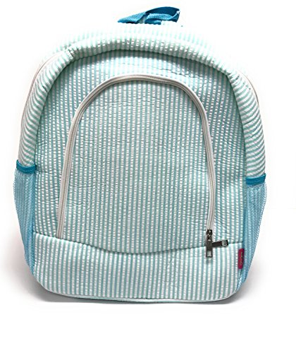 Aqua Seersucker - Childrens School Backpack (Seersucker Aqua)