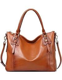 Women's Vintage Genuine Leather Tote Shoulder Bag