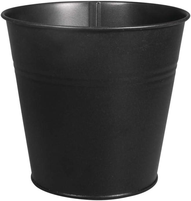Rayher 25193576 Metall-Topf f/ür Rayher Pin und Peg 10,5 cm /ø H/öhe 11 cm Schwarz
