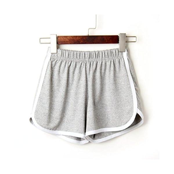 Pantaloncini Sportivi Donna,Estivi Eleganti,Pantaloni Felpa Donna,Yanhoo® Moda Donna Donna Estate Sport Pantaloncini… 2 spesavip