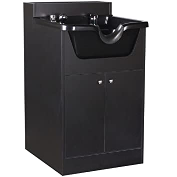 Attrayant TUCKER Pearl Black Salon Beauty Shampoo Cabinet W/Bowl SU 21BLK