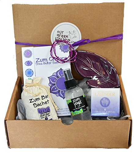 All Natural Gift Basket for Birthdays, Anniversaries, Thank You - Yoga Lover by our green house