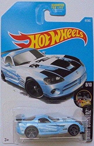 (Hot Wheels 2017 Night Burnerz Dodge Viper SRT10 ACR 47/365, Light Blue)