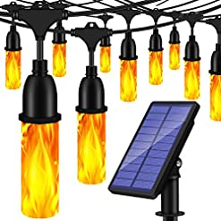 Garden and Outdoor TomCare Solar Lights Flickering Flame Outdoor Solar String Lights 27 Ft USB Charged Waterproof Decorative Hanging Patio… outdoor lighting