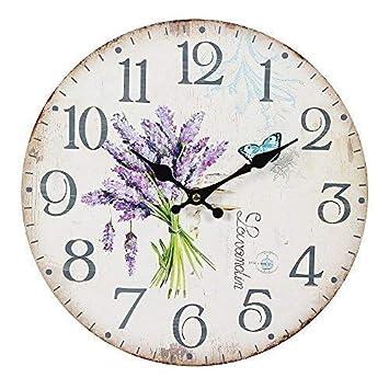 Uhren & Schmuck Wanduhr Violet Lila Vintage/landhaus Wanduhren