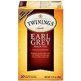 Twinings of London Earl Grey Black Tea Bags, 20 Count (Pack of 6)
