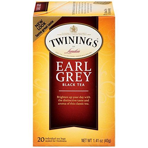 Twinings of London Earl Grey Black Tea Bags, 20 Count (Pack of 6) ()