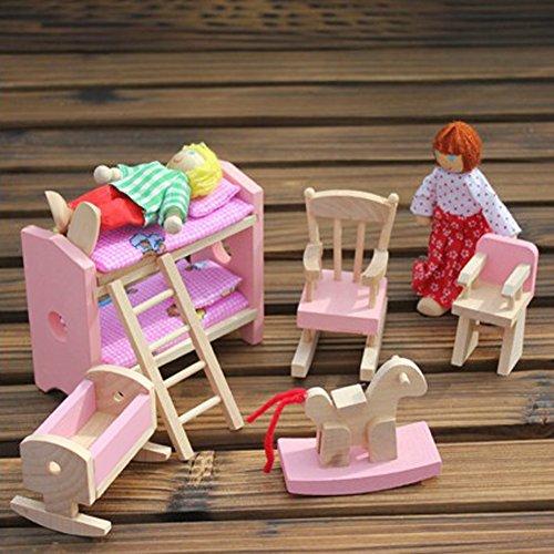 toys, games, dolls, accessories, doll accessories,  furniture 9 discount Vktech Wooden Dollhouse Funiture Kids Child Room Set deals