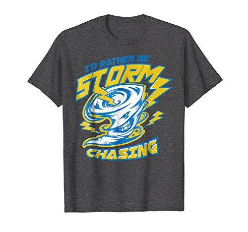 Mens Storm Fanatic and Chasing Freak T-Shirt | Chasers Gift Small Dark Heather ()