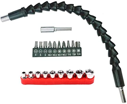 21pcs Set Screwdriver Bit Set and Flexible Shaft drill Bits Extension bit