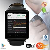 inDigi UNLOCKED! Android 4.0 Smart Watch Cell Phone w/ WiFi Bluetooth Google Play Store (US Seller)
