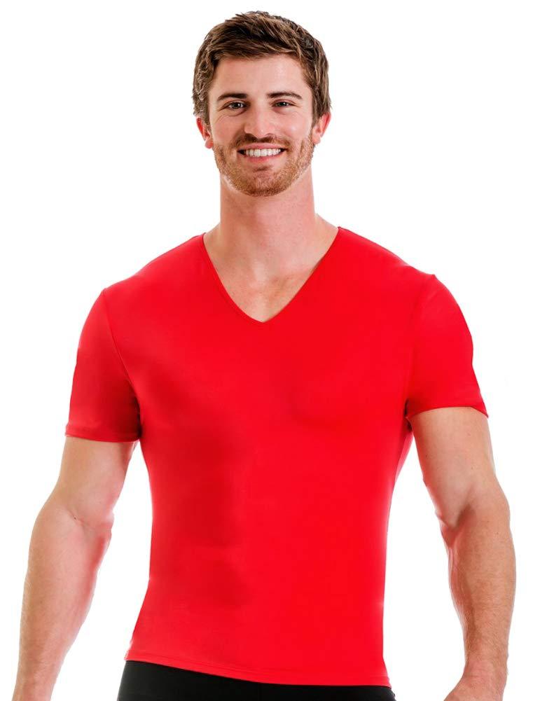 Insta Slim V-Neck Shirt (Red, S)