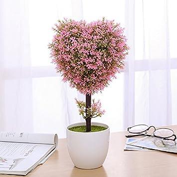 wei Bonsai de Plantas de Simulación Creativa, Flores, Flores y Plantas Verdes en macetas