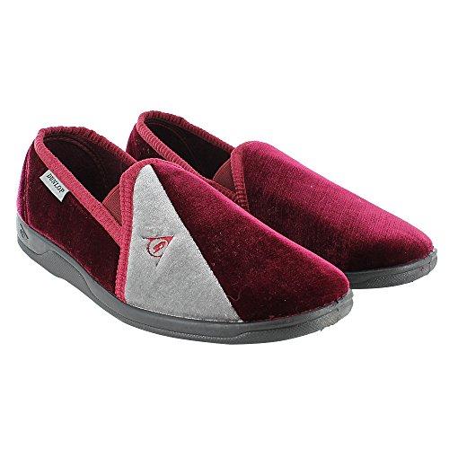 Dunlop - Zapatillas de estar por casa de sintético para hombre, color rojo, talla 44