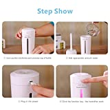 9Oine Cool Mist Humidifier,No Noise 230ML Portable USB Ultrasonic Air Humidifier Purifier 7 Color LED Lights Changing Mini Humidifier For Office Desk Bedroom Home Babies Kids Cars(White)