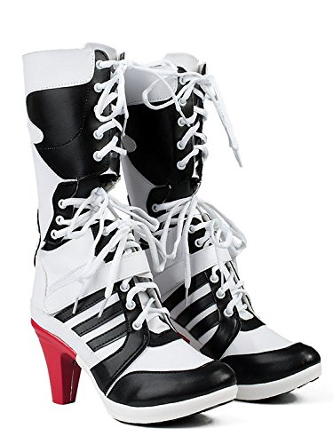 56834af4dd4c Amazon.com  FLYCAMEL Suicide Squad Harley Quinn Boots Womens Cosplay Shoes