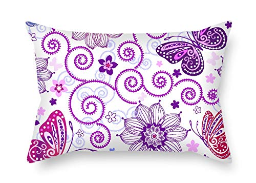 TonyLegner Butterfly Pillow Shams 20 X 30 Inches / 50 by 75 cm Gift Or Decor for Wedding Husband Study Room Kids Pub Kids Room - Twin Sides