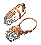 OmniPet 3/4 Width Straps Wire Basket Dog Muzzle, Large