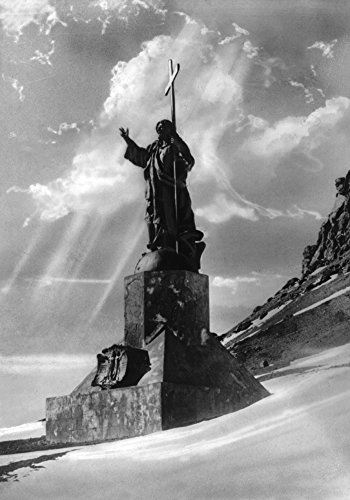 - Statue of Jesus Christ in the Andes Photograph (12x18 SIGNED Print Master Art Print w/Certificate of Authenticity - Wall Decor Travel Poster)