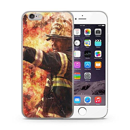Feuerwehr Foto iPhone 6 & 6S SLIM Hardcase Hülle Schutz Cover Case Schale Feuerwehrmann