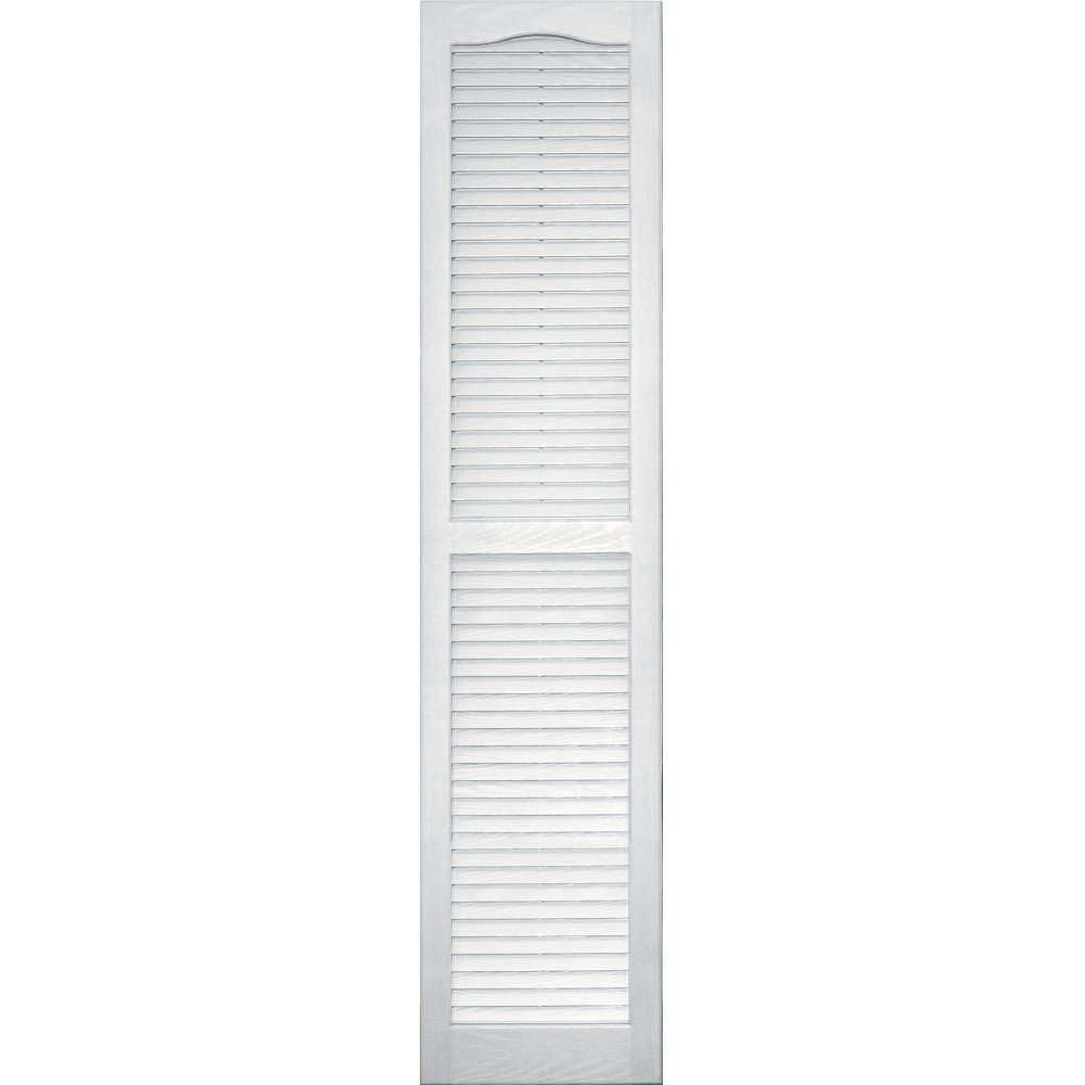 Vantage 0114063123 14X63 Louver Arch Shutter/Pair 123, White