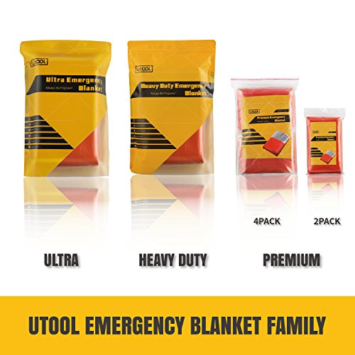 UTOOL Ultra Emergency Blanket Survival Blanket Heavy Duty