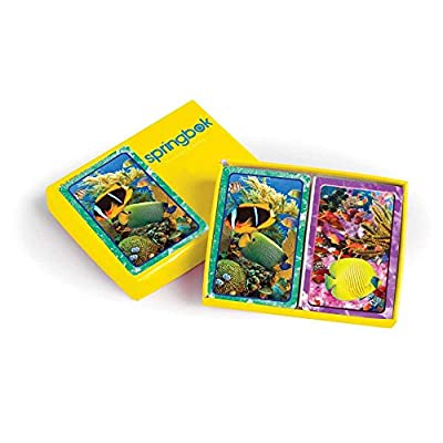 Springbok Puzzles Aquatic Collection Jumbo Print Index Carte Da Gioco