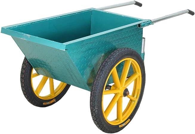 XLOO Carro de jardín/Carretilla de Uso múltiple, Carro de jardín de Carretilla con 2 neumáticos, Ruedas Todoterreno, Acero Grueso, manijas retráctiles, súper Carga, Carro de césped: Amazon.es: Hogar