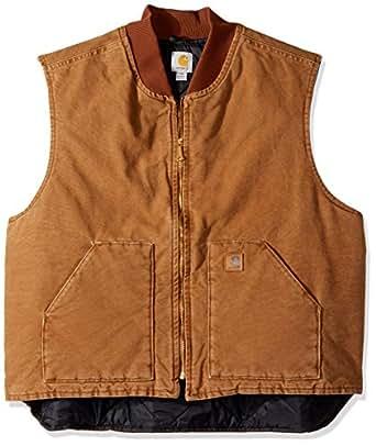Carhartt Men's Big & Tall Sandstone Vest Arctic Quilt Lined,Carhartt Brown,Large Tall