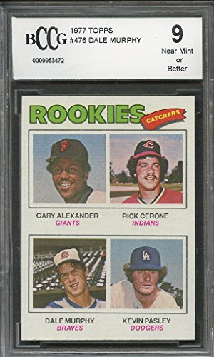 1977 topps #476 DALE MURPHY atlanta braves rookie card (CENTERED) BGS BCCG 9 Graded Card 1977 Rookie Card