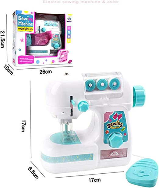 DishyKooker - Máquina de coser para niños, mini muebles, diseño de ropa y juguetes para regalo educativo: Amazon.es: Hogar